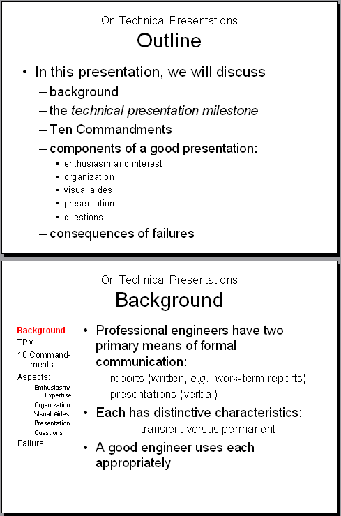 Presenting Content To Different Types Of Learners: Technical Presentation Proficiency