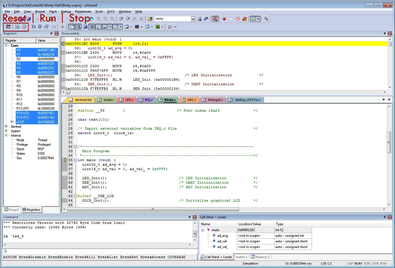mte241 debuggingthe uvision has many useful features for debugging cmsis and rtx based codes(keil com (n d ))